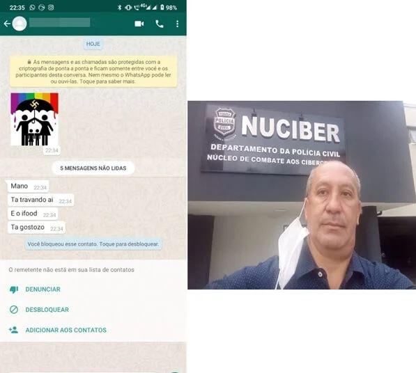 Capturar.JPGqq  1 - Presidente da Aliança Nacional LGBTI+ recebe ameaça de grupos nazistas