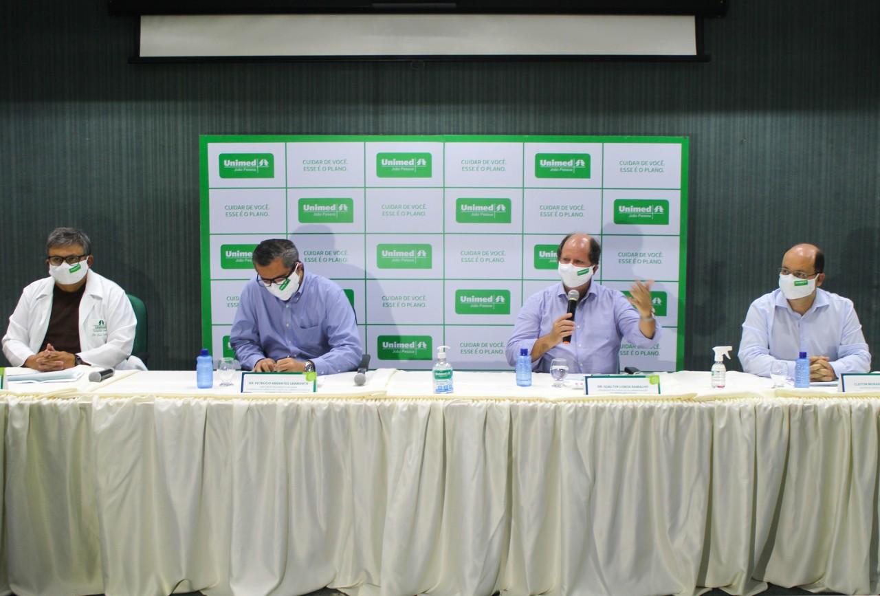 Covid coletiva de imprensa Unimed JP - Unimed JP faz balanço dos casos de covid-19 e orienta população a manter medidas sanitárias
