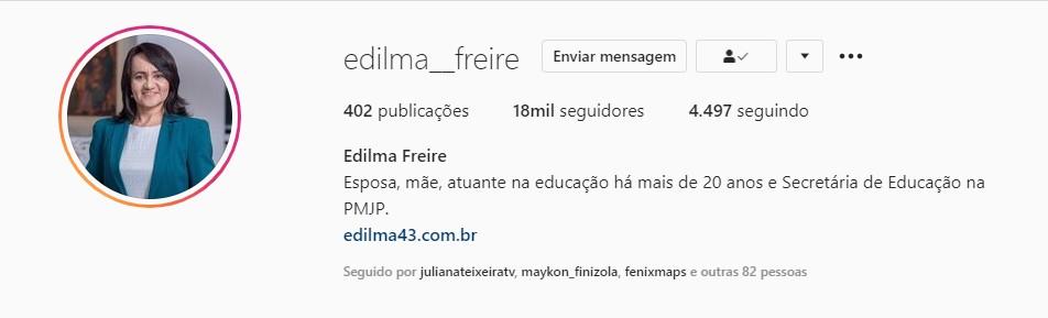EDILMA FREIRE - Edilma Freire voltará à Secretaria de Educação na Prefeitura de João Pessoa