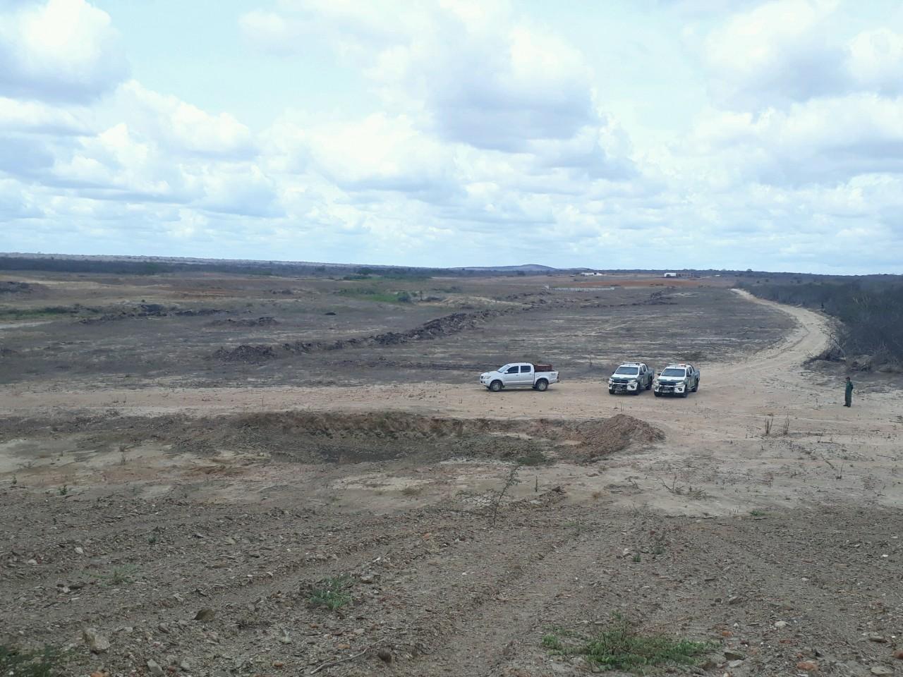 Operação Mandacaru 01 - IBAMA detecta 287 hectares de área desmatada no bioma caatinga na Paraíba