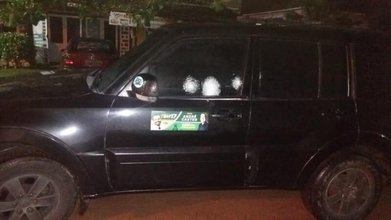 WhatsApp Image 2020 11 13 at 10 03 36 00090198 0 - Candidato a prefeito tem carro metralhado e policia investiga motivação