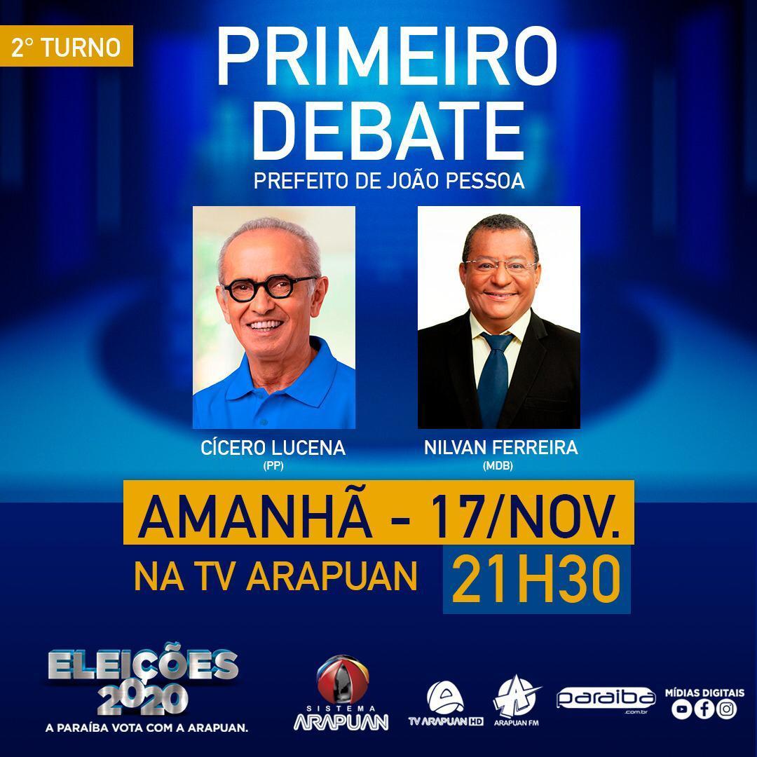 WhatsApp Image 2020 11 16 at 13.01.21 - Tv Arapuan realiza primeiro debate do 2º turno com os candidatos Cícero Lucena e Nilvan Ferreira