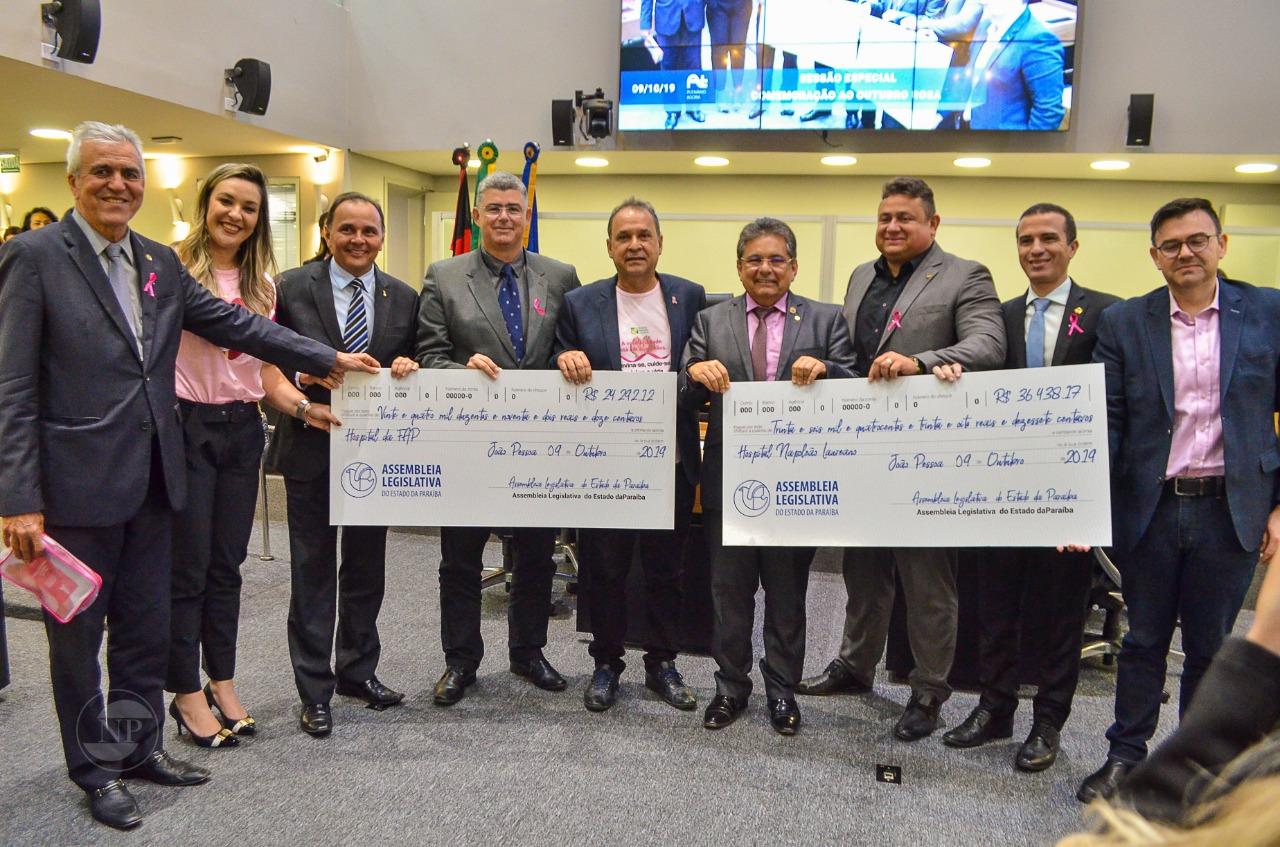 alpb - Em um ano, ALPB doa 650 mil reais para hospitais que tratam do câncer na Paraíba