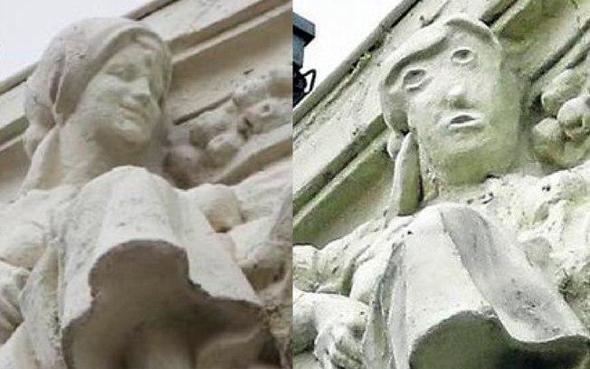cfzk3t7778f2xgey9t69fknp0 - Estátua do século passado fica irreconhecível após restauração