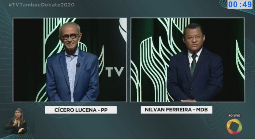 """debate cicero nilvan - Nilvan desafia Cícero sobre pensão de ex-governador: """"renuncie sua candidatura caso não tenha recebido ao longo desses anos..."""""""