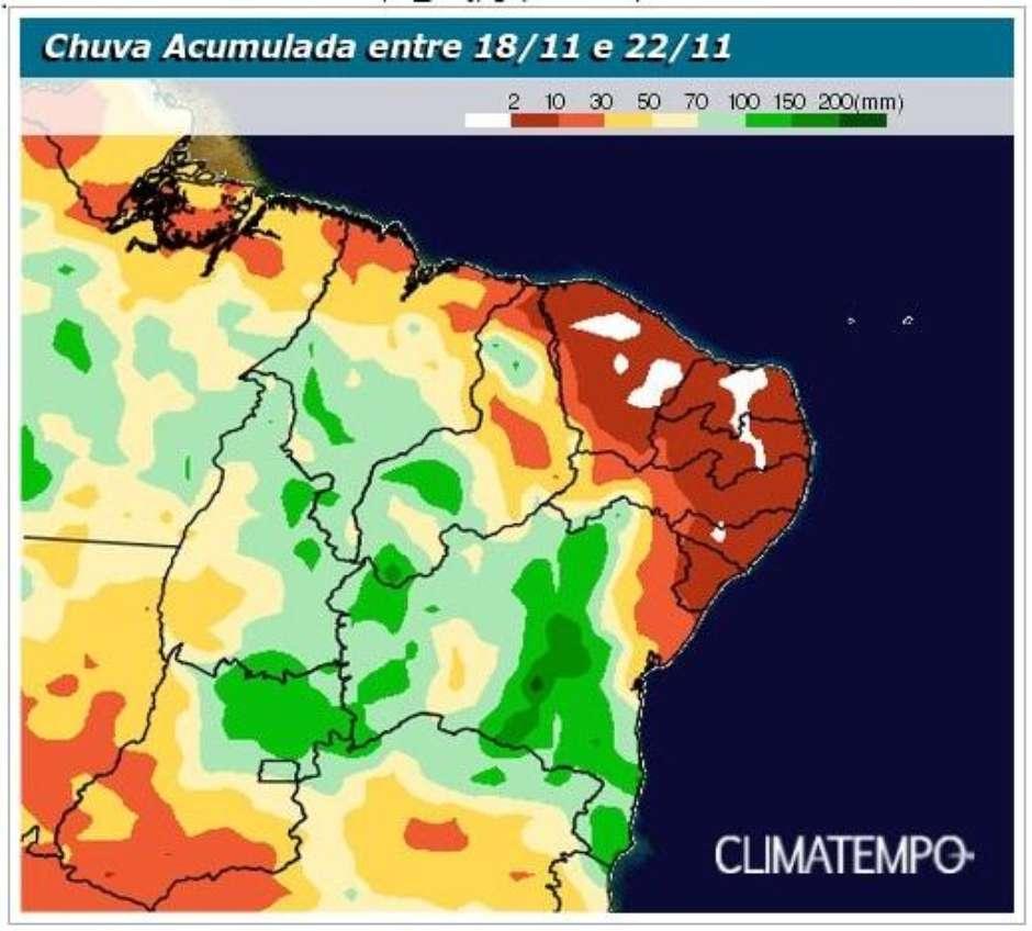 e2f3718b5a6919533b7d66c4abe84eca - Frente fria chega ao Nordeste provocando o aumento de chuva nos próximos dias