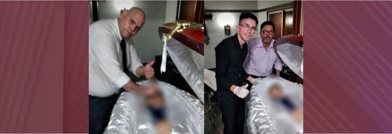 funcionario funeraria maradona - Ex-funcionário de funerária pede desculpas após fotos com Maradona em caixão