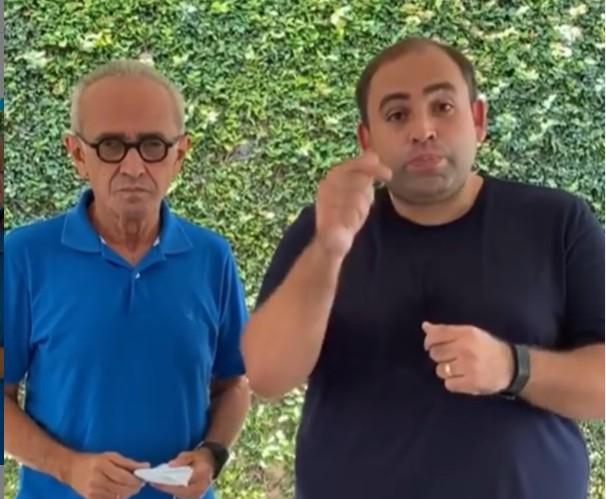 imagem 2020 11 20 185909 - Camilo Franco reafirma apoio a Cicero Lucena: 'a pessoa que tem experiência e capacidade' - VEJA VÍDEO