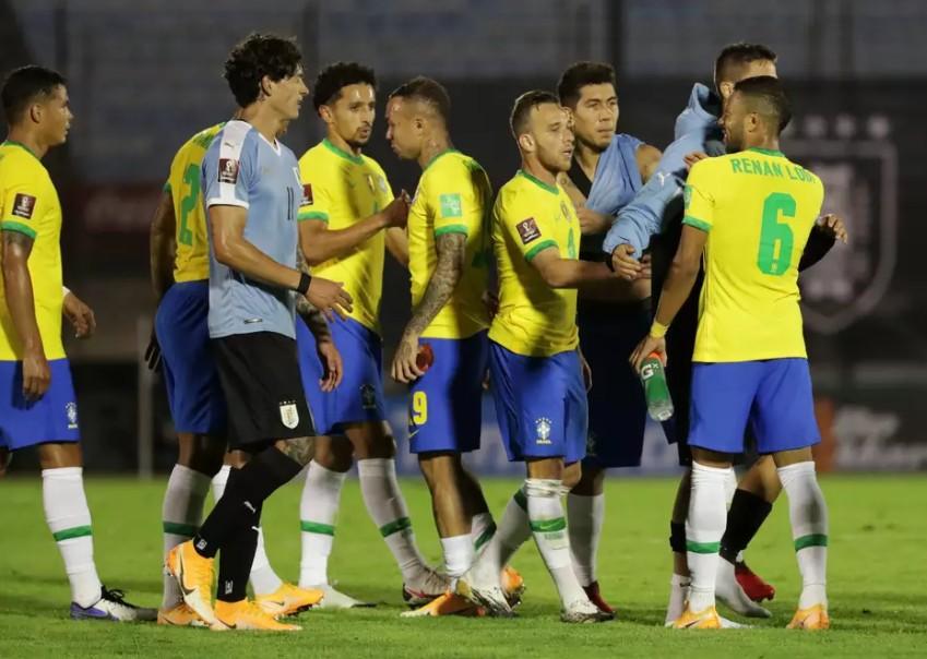 jogo 2 - Após jogo contra o Brasil, Uruguai tem mais 7 casos de covid
