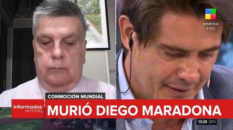 jornalista02 - Jornalista chora e perde a voz ao noticiar morte de Maradona