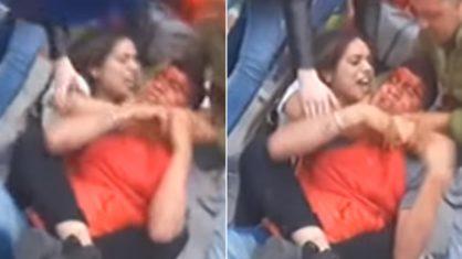 lutadora de mma 418x235 1 - Ladrão tenta roubar lutadora de MMA e apanha no meio da rua – VEJA VÍDEO