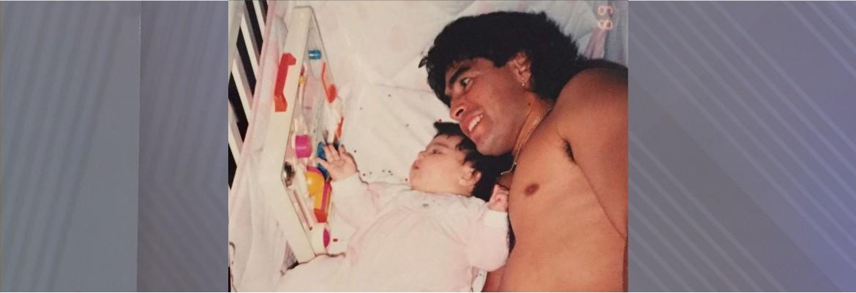 """maradona e filha - """"Encontrar com ele pela cidade"""", diz filha de Maradona"""