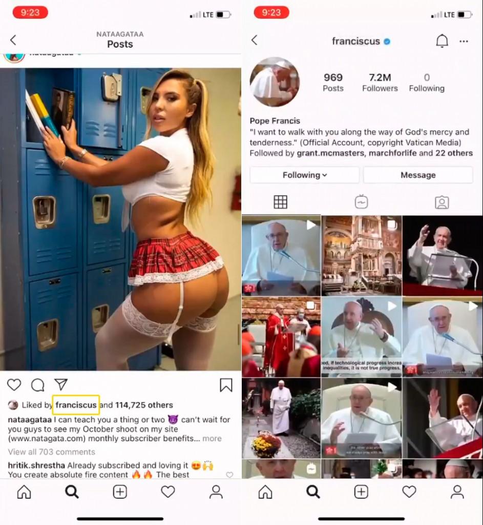 nataliapapafranciscocurtida - Brasileira que ganhou curtida de conta do Papa produz conteúdo adulto e tem vida de luxo; confira