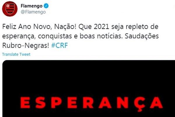 Flamengo Ano Novo 600x400 1 - Virou meme: Flamengo faz post de Ano-Novo um dia antes e gafe vira piada nas redes