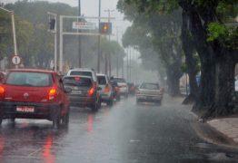 João Pessoa e mais 32 cidades da Paraíba estão sob risco de chuvas intensas