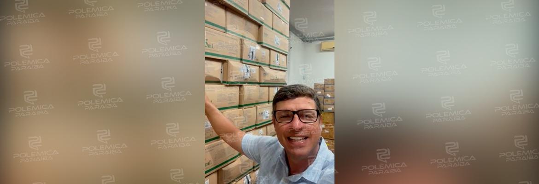 WhatsApp Image 2021 01 12 at 10.43.26 - CORONAVÍRUS: Em vídeo, Vitor Hugo mostra estoque de 60 mil seringas e garante vacinação imediata em Cabedelo - ASSISTA