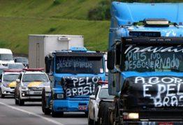 Rodovias da Paraíba serão bloqueadas para caminhões durante paralisação da próxima segunda-feira
