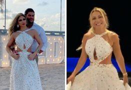 Camila Ângelo aparece com roupas iguais a da ex-esposa de Hulk, e Iran diz que fará sorteio das peças