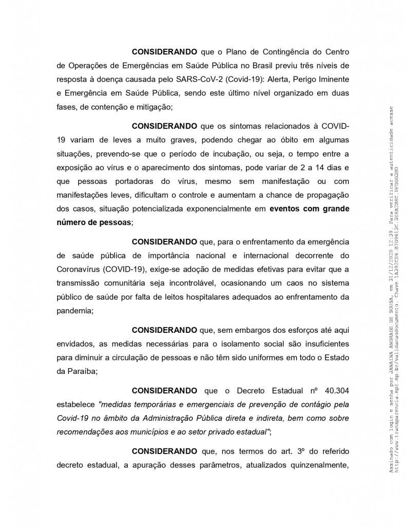 recomendacao 11 2020 page 0002 - MPF recebe denúncia de festas de posse em Monteiro e pede que Câmara informe quais os vereadores que participaram do evento - VEJA VÍDEO