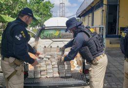 PRF na Paraíba apreende 60kg de pasta base de cocaína escondida em fundo falso de caminhonete