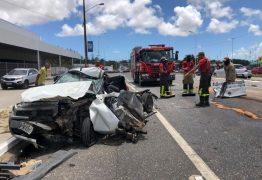 Com ferimentos leves, motorista sobrevive a grave acidente de trânsito na BR 230