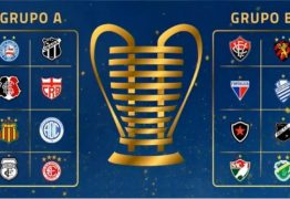 Com Botafogo e Treze, CBF realiza sorteio dos grupos da Copa do Nordeste 2021