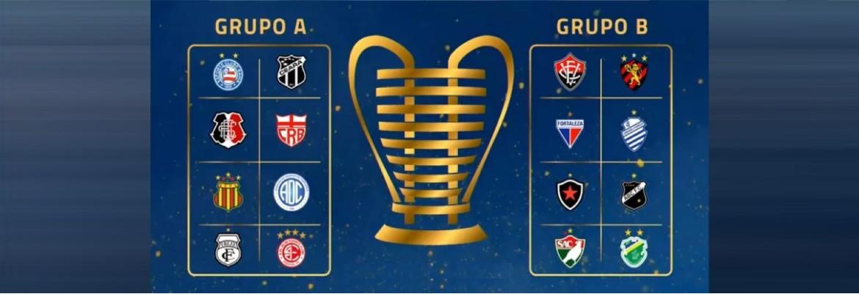 grupos nordestao - Com Botafogo e Treze, CBF realiza sorteio dos grupos da Copa do Nordeste 2021