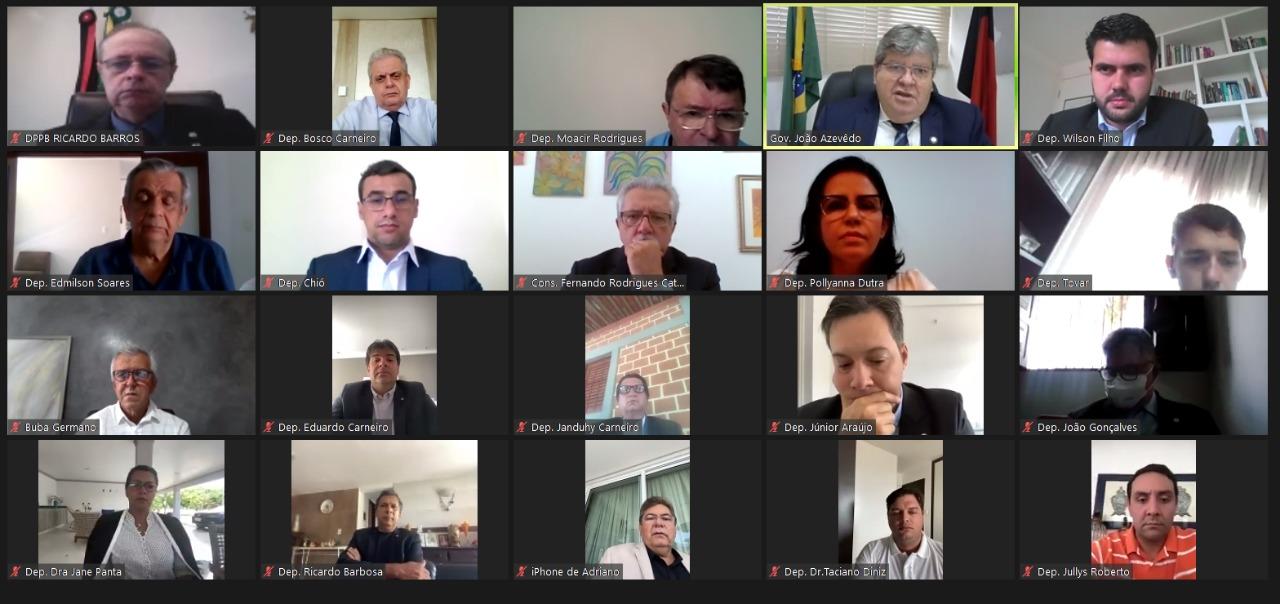 joão azevedo alpb - Em mensagem ao Legislativo, João Azevêdo destaca parceria da ALPB no combate à pandemia