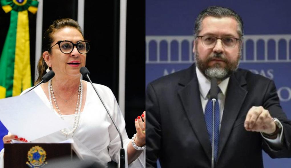 1616963829291096 - Em tom de despedida, Ernesto Araújo alfineta senadora Kátia Abreu