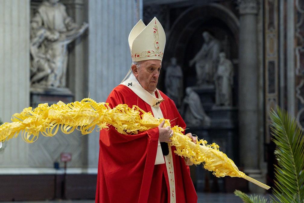 2021 03 28t180521z 1684020732 rc2ikm9kg1sr rtrmadp 3 religion easter pope palmsunday - SEMANA SANTA: Papa diz que o 'diabo se aproveita' da pandemia para semear desconfiança