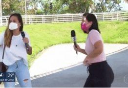 Durante entrevista, jornalista da Globo é surpreendida por tiroteio após bandidos assaltarem joalheria em shopping; veja