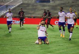 Campinense é atropelado pelo Bahia, sofre goleada e time baiano avança na Copa do Brasil