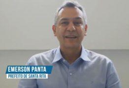 Emerson Panta grava mensagem em homenagem aos 131 anos de Santa Rita – VEJA VÍDEO