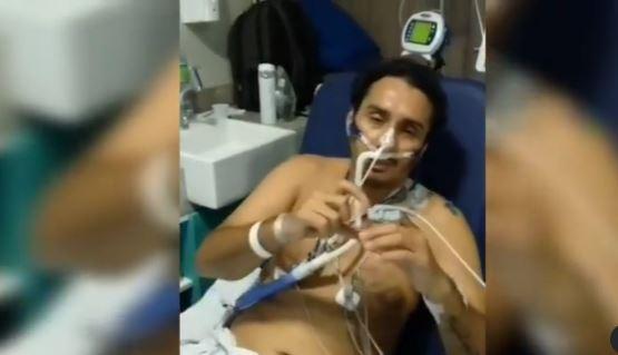 """Capturar 43 - COVID-19: Vicente Nery faz coração com as mãos e manda mensagem para fãs: """"voltei"""" - VEJA VÍDEO"""