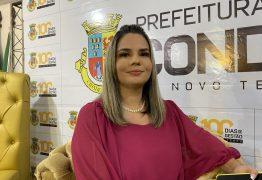 Karla Pimentel é a primeira prefeita da Paraíba a pagar parcela antecipada do 13º salário em Conde