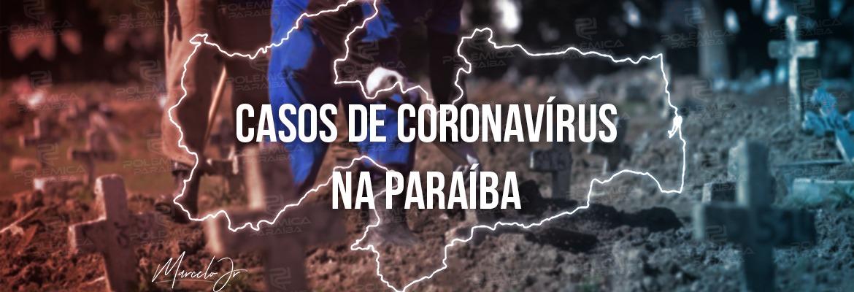casos coronavirus - Paraíba registra 2.391 casos e 26 óbitos por Covid-19 em novo boletim; total de vacinados com 1º dose se aproxima a 30%