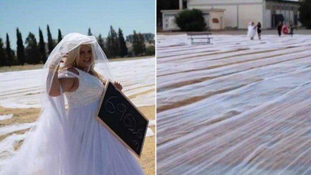 xblog bride.jpg.pagespeed.ic .O45ImxQSFy - Noiva bate recorde com véu de 6.962,6 metros de comprimento - VEJA VÍDEO