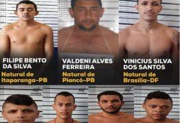 Sete presos fogem de cadeia em Itaporanga e são pegos no Sertão paraibano