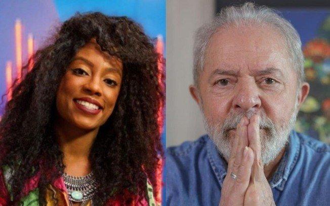 """LUMENA E LULA - Ex-BBB Lumena brinca sobre ser vice de Lula nas eleições 2022: """"Vamos assumir o B.O. desse país"""""""
