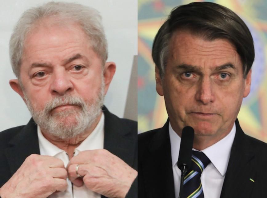 """lula bolsonaro 868x644 1 - Bolsonaro sobre Lula nas eleições: """"Só na fraude o 'nove dedos' volta"""""""