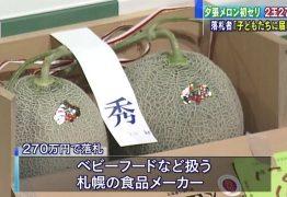 Melões são leiloados por mais de 100 mil reais no Japão