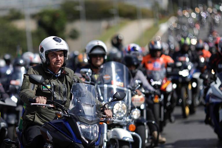 162335233260c2640c17504 1623352332 3x2 md - COMEMORANDO AS MORTES?! Concentração para 'motociata' com Bolsonaro reúne milhares em meio a avanço da pandemia