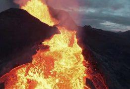 Drone grava momento em que é 'engolido' por vulcão na Islândia