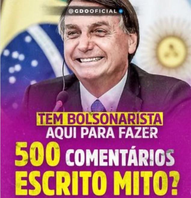 FALTA DE HUMANIDADE: apoiadores do presidente Bolsonaro fazem piada com a marca de 500 mil mortes pela covid