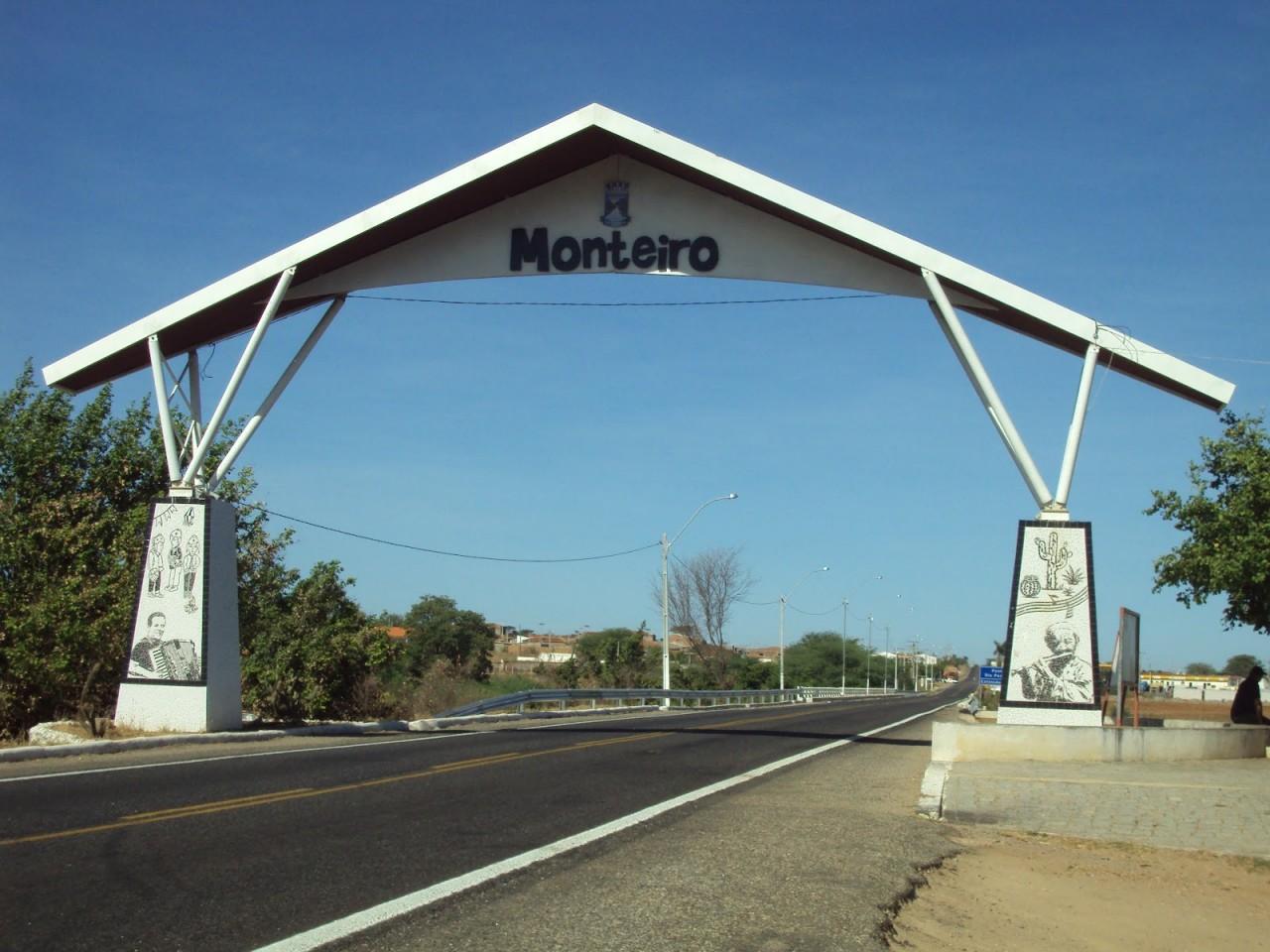 Portico Monteiro - Monteiro publica novo decreto com fechamento de bares, restaurantes e academias e toque de recolher - VEJA MEDIDAS
