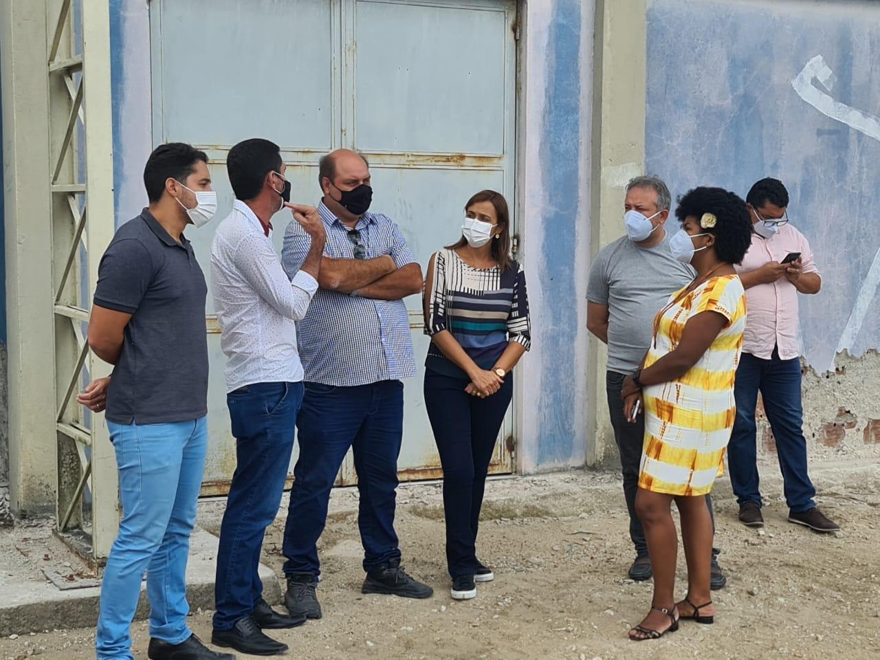 WhatsApp Image 2021 06 15 at 09.16.11 - Secretária Ana Cláudia inspeciona obra de reformas no Centro de Formação de Educadores em Campina Grande