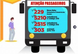 Semob-JP cria linha 229 e faz mais três alterações na operação do transporte público da Capital