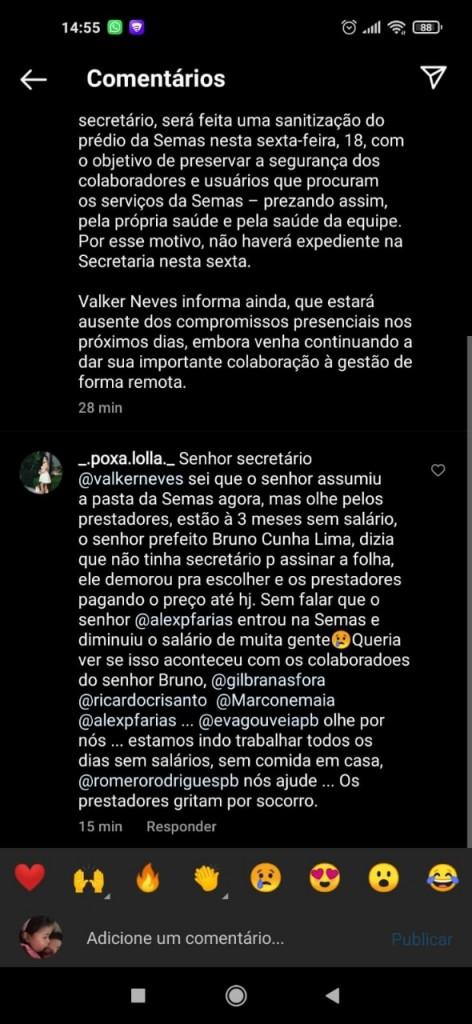 WhatsApp Image 2021 06 19 at 07.27.36 - Prestadores de serviços da Assistência Social em Campina apelam ao prefeito os três meses de salários atrasados
