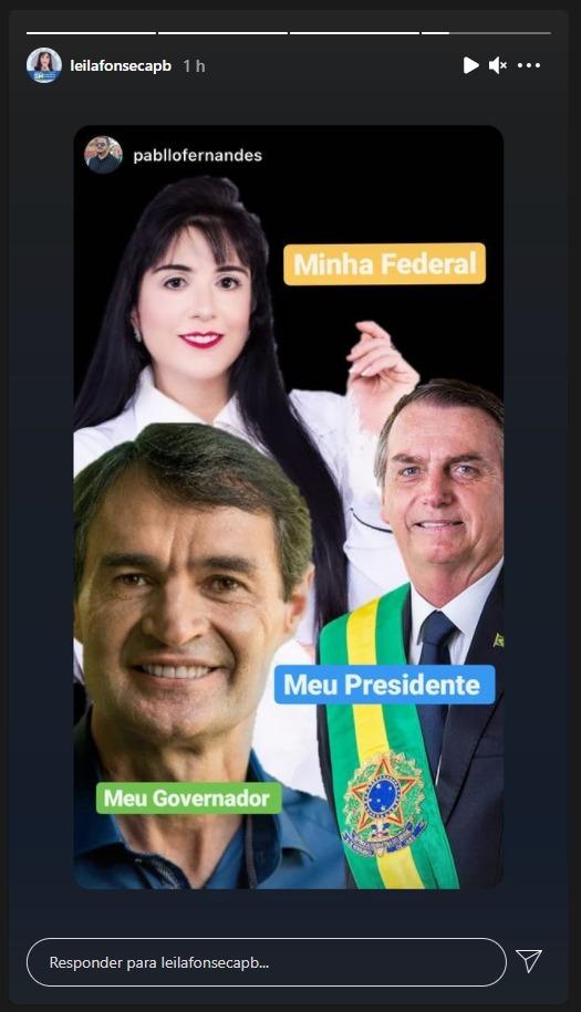 WhatsApp Image 2021 06 21 at 19.29.35 - Leila Fonseca defende nome de Romero como candidato a governador, reeleição de Bolsonaro e se coloca como candidata a deputada federal