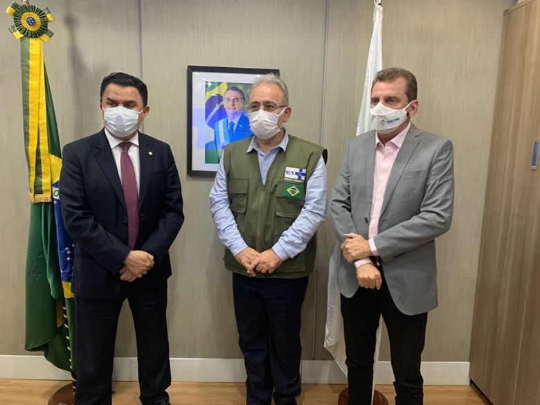 WhatsApp Image 2021 06 22 at 19.11.16 - Chico Mendes se reúne com Ministro da Saúde em busca de recursos para o Hospital de São José de Piranhas